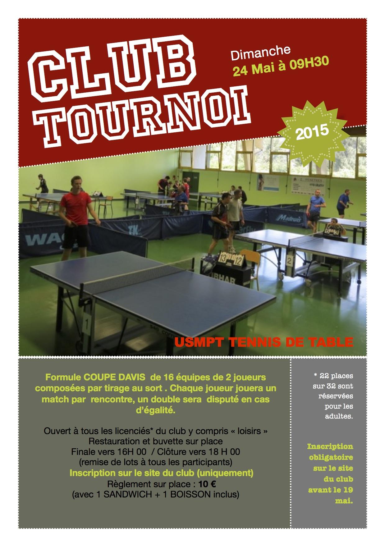 Tournoi du club mai 2015 usmpt tennis de table - Calculateur de points tennis de table ...