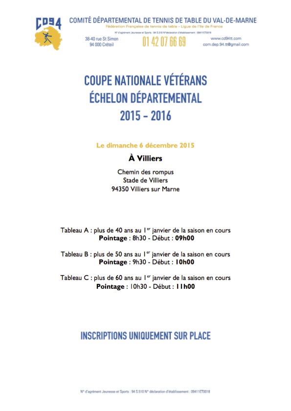 Coupe nationale v t rans 2015 2016 usmpt tennis de table - Comite departemental de tennis de table ...